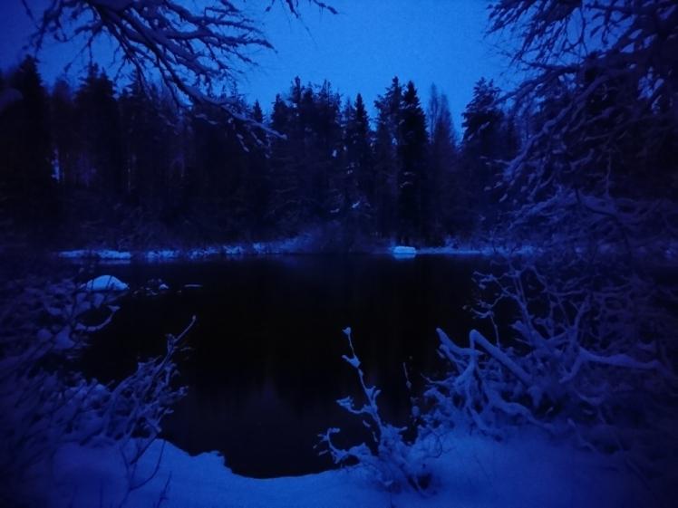 Blue twilight, Rantapirtti, Central Finland