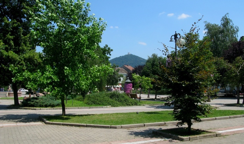 Vršac, city center, Serbia